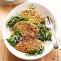Sauteed Spinach with Grilled Chicken