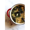 Clear Soup (Mushroom and  Spinach)