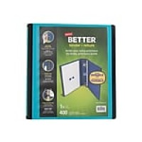 "Staples 1.5"" 3-Ring Better Binder, Teal (13468-CC)"