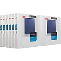 "Staples Standard 1"" 3-Ring View Binders, White, 12/Carton (26432CT)"