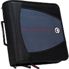 "Case-it ""The Mighty Zip"" 3-Inch Round 3-Ring Zipper Binder, Black (D-146-Black)"