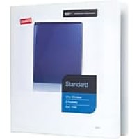"Staples® Standard View Binder with D-Rings, White, 350 Sheet Capacity, 1-1/2"" Ring"