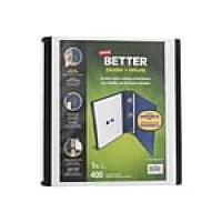 "Staples 1.5"" 3-Ring Better Binder, White (13402)"