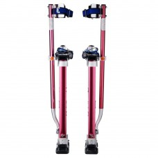 Pentagon Tool 18 in. to 30 in. Adjustable Height Red Drywall Stilts