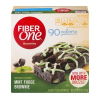 Fiber One Brownies 90 Calorie Mint Fudge - 6 ct