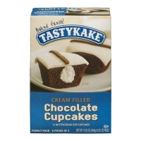 Tastykake Cupcakes Chocolate Cream Filled Buttercream Iced - 12 ct