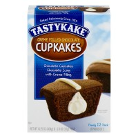 Tastykake Cupcakes Chocolate Cream Filled Chocolate Iced - 12 ct