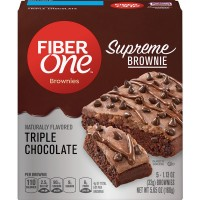 Fiber One Supreme Brownie Triple Chocolate - 5 ct