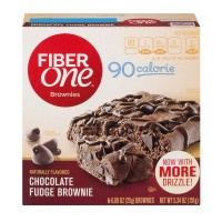 Fiber One Brownies 90 Calorie Chocolate Fudge - 6 ct