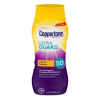 Coppertone ULTRA GUARD Sunscreen Lotion Water Resistant UVA/UVB SPF 50