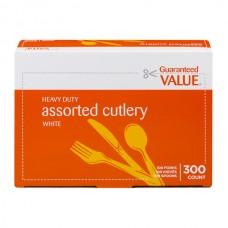 Guaranteed Value Cutlery Assorted Heavy Duty White