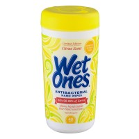 Wet Ones Antibacterial Hand Wipes Citrus Scent