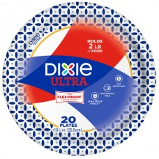Dixie Ultra Paper Plates Soak Proof Shield Decorated 10 1/16 Inch