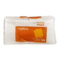 Guaranteed Value Strong & Absorbent Napkins 1-Ply White