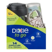 Dixie To Go Cups & Lids Insulated 12 oz