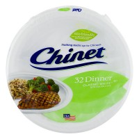 Chinet Paper Plates Dinner Classic White 10 3/8 Inch