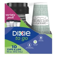 Dixie To Go Drink Cups & Lids Insulated 16 oz