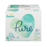 Pampers Aqua Pure Baby Wipes Pop-Top - 6 pk
