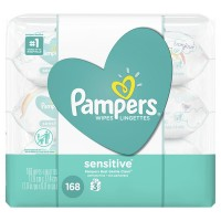 Pampers Baby Wipes Sensitive Travel Pack 56 ct ea - 3 pk