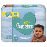 Pampers Baby Wipes Complete Care Scented Baby Fresh Refill 72 ct ea - 3 pk