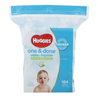 Huggies One & Done Refreshing Baby Wipes Cucumber & Green Tea Refill