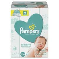 Pampers Wipes Sensitive Refills 64 ct ea - 9 pk