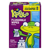 Pampers Kandoo Flushable Wipes Sensitive Hypoallergenic Refill - 4 ct