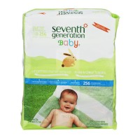 Seventh Generation Baby Wipes Free & Clear Unscented Refill 64 ct ea -4 pk