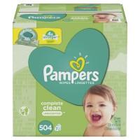 Pampers Complete Clean Wipes Pop-Top Packs 64 ct ea - 7 pk