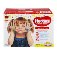 Huggies Simply Clean Baby Wipes Fragrance Free Soft Pack 64 ct ea - 9 pk