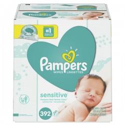 Pampers Wipes Sensitive Pop-Top Packs 56 ct ea - 7 pk