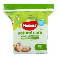 Huggies Natural Care Baby Wipes Aloe & Vitamin E Fragrance Free Refill