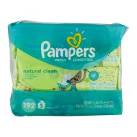 Pampers Baby Wipes Complete Clean Unscented Refill 64 ct ea - 3 pk