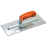13 in. x 5 in. Carbon Steel Plaster Finish Trowel - Proform Handle
