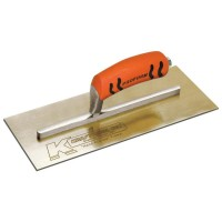 10-1/2 in. x 4-1/2 in. Golden Stainless Steel Golden Stainless Steel Finish Trowel - Proform Handle