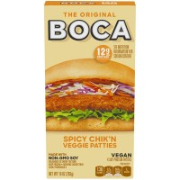 Boca Chik'n Veggie Patties Spicy - 4 ct Frozen
