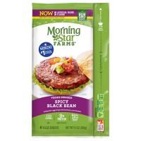 MorningStar Farms Veggie Burgers Spicy Black Bean - 4 ct Frozen