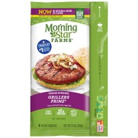 MorningStar Farms Grillers Prime Veggie Burgers Frozen - 4 ct