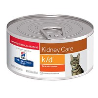 Hill's Prescription Diet k/d Kidney Care with Chicken Canned Cat Food, 5.5 oz., Case of 24