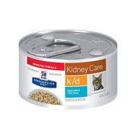 Hill's Prescription Diet k/d Kidney Care Vegetable, Tuna & Rice Stew Canned Cat Food, 2.9 oz., Case of 24