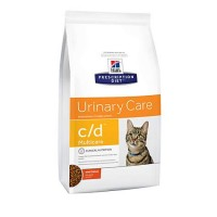 Hill's Prescription Diet c/d Multicare Urinary Care with Chicken Dry Cat Food, 17.6 lbs., Bag