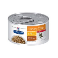 Hill's Prescription Diet c/d Multicare Stress Urinary Care Chicken & Vegetable Stew Canned Cat Food, 2.9 oz., Case of 24
