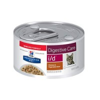 Hill's Prescription Diet i/d Digestive Care Chicken & Vegetable Stew Canned Cat Food, 2.9 oz., Case of 24