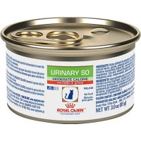 Royal Canin Veterinary Diet Feline Urinary SO Moderate Calorie Morsels In Gravy Wet Cat Food, 3 oz., Case of 24