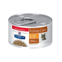 Hill's Prescription Diet k/d Kidney Care Chicken & Vegetable Stew Canned Cat Food, 2.9 oz., Case of 24
