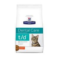 Hill's Prescription Diet t/d Dental Care Chicken Flavor Dry Cat Food, 8.5 lbs., Bag