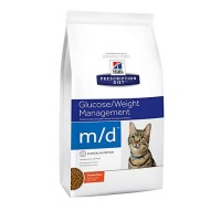 Hill's Prescription Diet m/d Glucose/Weight Management Chicken Flavor Dry Cat Food, 8.5 lbs., Bag
