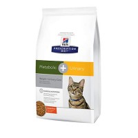Hill's Prescription Diet Metabolic + Urinary, Weight + Urinary Care Chicken Flavor Dry Cat Food, 12 lbs., Bag