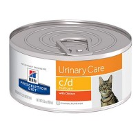 Hill's Prescription Diet c/d Multicare Urinary Care with Chicken Canned Cat Food, 5.5 oz., Case of 24