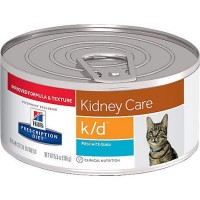 Hill's Prescription Diet k/d Kidney Care with Tuna Canned Cat Food, 5.5 oz., Case of 24